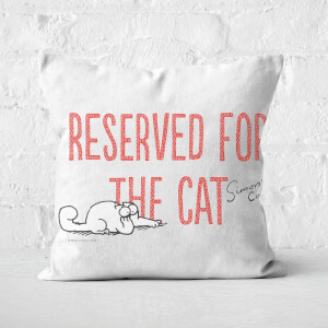 Simons Cat Reserved For The Cat Square Cushion