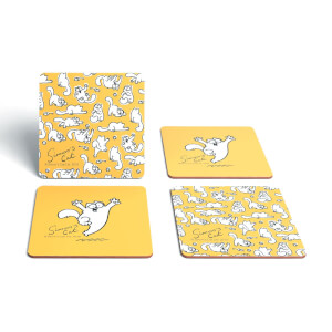 Simons Cat Play Cork Coaster Set