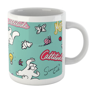 Simons Cat Cattitude Toys White 11oz Mug
