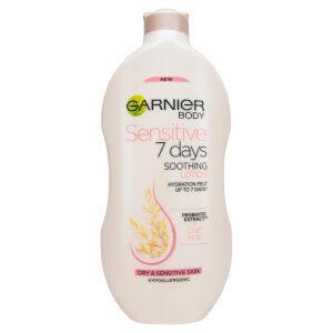 Garnier Sensitive 7 Days Oat Milk Hypoallergenic Body Lotion Dry Sensitive Skin 400ml