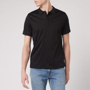 Emporio Armani Men's Zip Collar Polo Shirt - Black