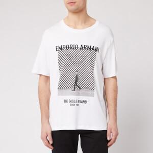 Emporio Armani Men's Large Photo Logo T-Shirt - White