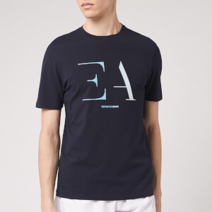 Emporio Armani Men's Gradiated Logo T-Shirt - Navy