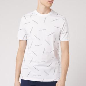 Emporio Armani Men's All Over Logo T-Shirt - Black