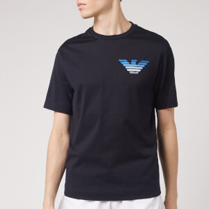 Emporio Armani Men's Small Chest Gradient Logo T-Shirt - Navy