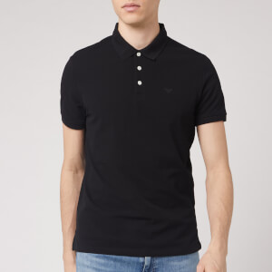 Emporio Armani Men's Basic Polo Shirt - Black