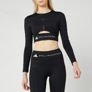 adidas by Stella McCartney Women's Training Long Sleeve Crop Top - Black