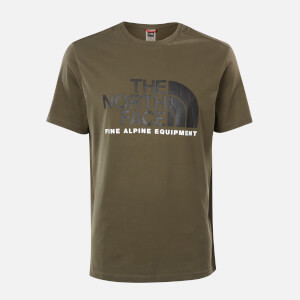The North Face Men's Fine Alpine 2 T-Shirt - New Taupe Green/TNF Black