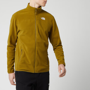 The North Face Men's 100 Glacier Full Zip Fleece Jumper - Fir Green
