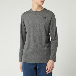 The North Face Men's Long Sleeve Red Box T-Shirt - Medium Grey Heather