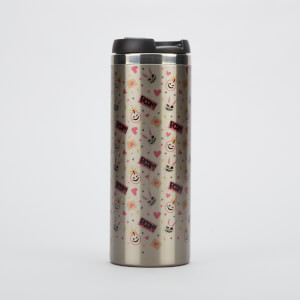 Borderlands 3 Tina Pattern Stainless Steel Thermo Travel Mug - Metallic Finish