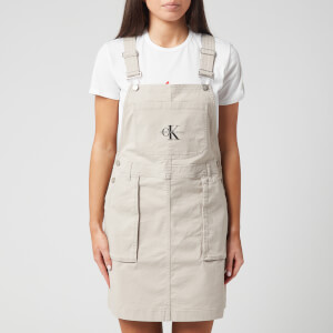 Calvin Klein Jeans Women's Utility Dungaree Dress - Chateau Grey