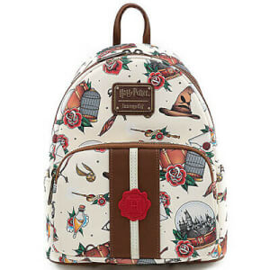 Loungefly Harry Potter Tattoo Aop Mini Backpack