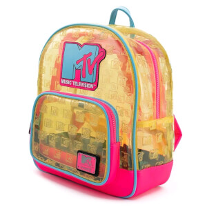 Loungefly MTV Clear Neon Pvc Mini Backpack