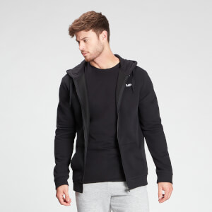 MP Men's Essentials Zip Through Hoodie - Black