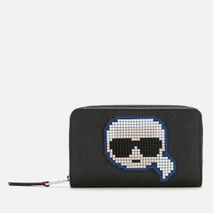 Karl Lagerfeld Women's K/Pixel Md Folded Zip Wallet - Black