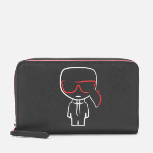 Karl Lagerfeld Women's K/Ikonik Md Folded Zip Wallet - Black