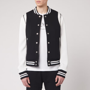 Balmain Men's Balmain Bicolor Neoprene Bomber Jacket - Black/White