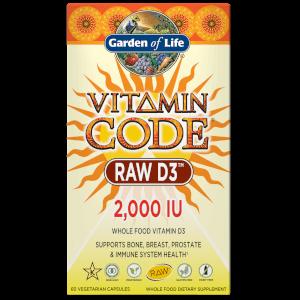 Vitamin Code Raw D3 純天然維生素D3 2000IU 60粒膠囊