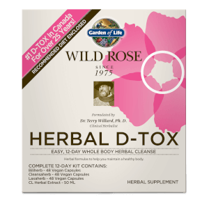 Garden of Life Wild Rose Herbal D-Tox 12-Day Kit