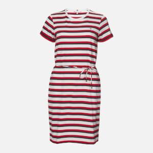 Tommy Hilfiger Women's Angela Regular Short Sleeve Dress - Multi Stripe/White
