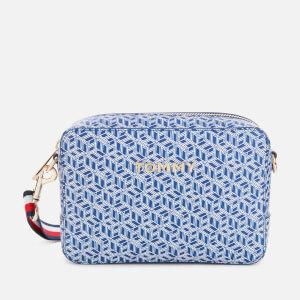 Tommy Hilfiger Women's Iconic Tommy Camera Bag Monogram - Blue Ink