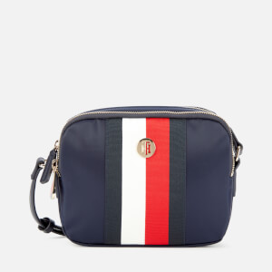 Tommy Hilfiger Women's Tommy Staple Saddle Cross Body Bag - Sky Captain