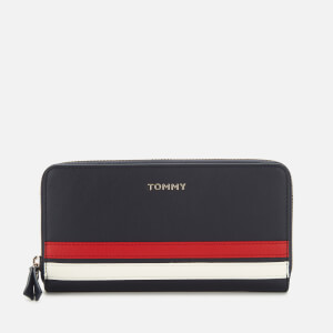 Tommy Hilfiger Women's Tommy Staple Large Zip Around Wallet - Sky Captain