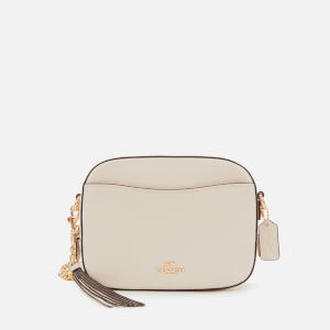 Coach Women's Polished Pebble Leather Camera Bag - Chalk