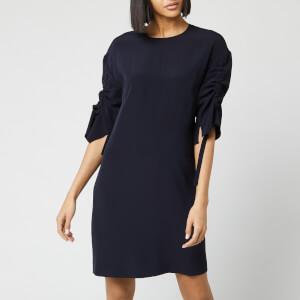 Victoria, Victoria Beckham Women's Ruched Sleeve Dress - Midnight Blue