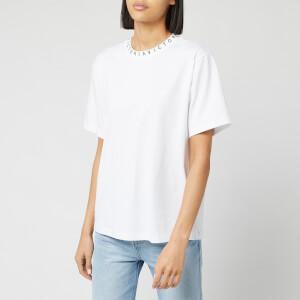 Victoria, Victoria Beckham Women's Logo Rib Victoria T-Shirt - White/Black