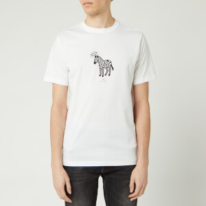 PS Paul Smith Men's Halo Zebra T-Shirt - White