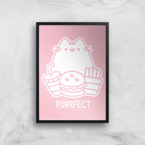 Pusheen Purrfect Junk Food Giclee Art Print