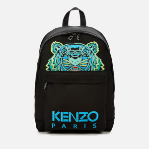 KENZO Men's Large Tiger Canvas Backpack - Black