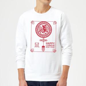 Happy Chinese New Year Red Sweatshirt - White