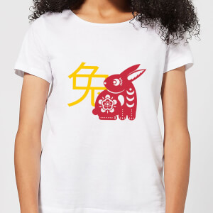 Chinese Zodiac Rabbit Women's T-Shirt - White