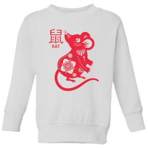 Year Of The Rat Kids' Sweatshirt - White