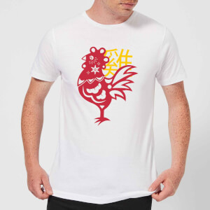 Chinese Zodiac Rooster Men's T-Shirt - White
