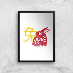 Chinese Zodiac Rabbit Giclee Art Print