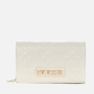 Love Moschino Women's Quilted Shoulder Bag - Ivory