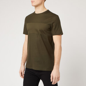 Ted Baker Men's Helter Pique Panelled T-Shirt - Khaki