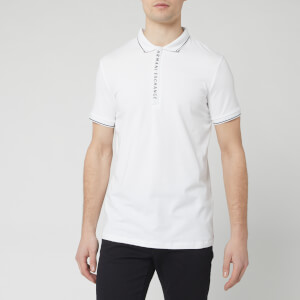 Armani Exchange Men's Collar Detail Polo Shirt - White