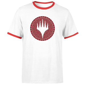 Magic: The Gathering Theros: Beyond Death Planeswalker Symbol Unisex Ringer T-Shirt - White/Red
