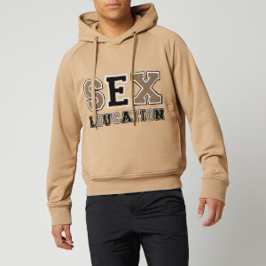 Neil Barrett Men's Sex Education Hoodie - Biscuit/Clay/ Black