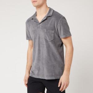 Orlebar Brown Men's Terry Polo Shirt - Granite