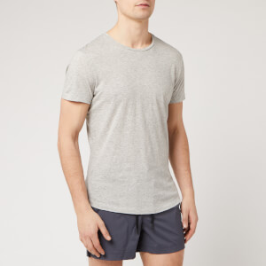 Orlebar Brown Men's Crewneck T-Shirt - Mid Grey Melange