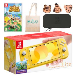 Nintendo Switch Lite (Yellow) Animal Crossing: New Horizons Pack