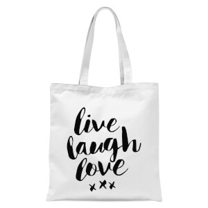 The Motivated Type Live Laugh Love Tote Bag - White