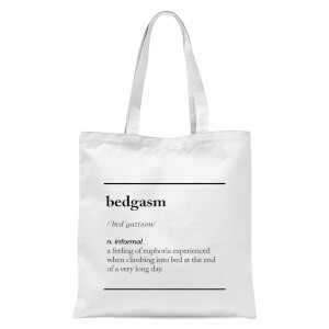 The Motivated Type Bedgasm Tote Bag - White