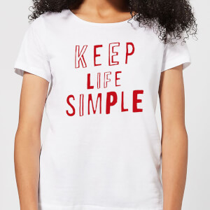 The Motivated Type Keep Life Simple Women's T-Shirt - White